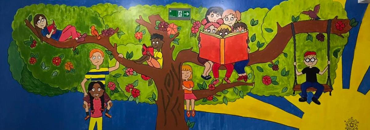 Mural pintado en el Pintatlón 2018