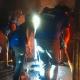 Voluntarios CADENA apoyan en una casa inundada en Sinaloa.