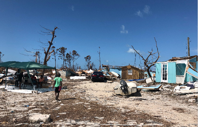 Bahamas destruida tras el huracán Dorian